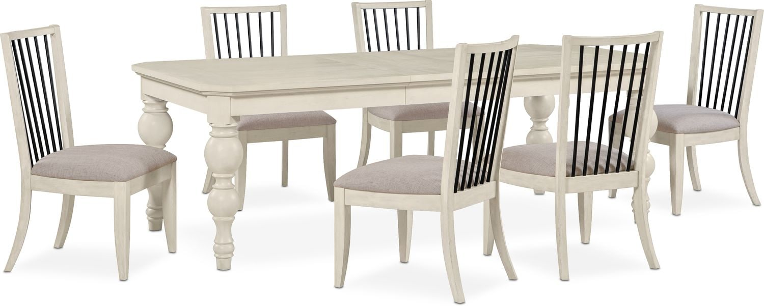 Dining Room Furniture - Gristmill Dining Table and 6 Side Chairs