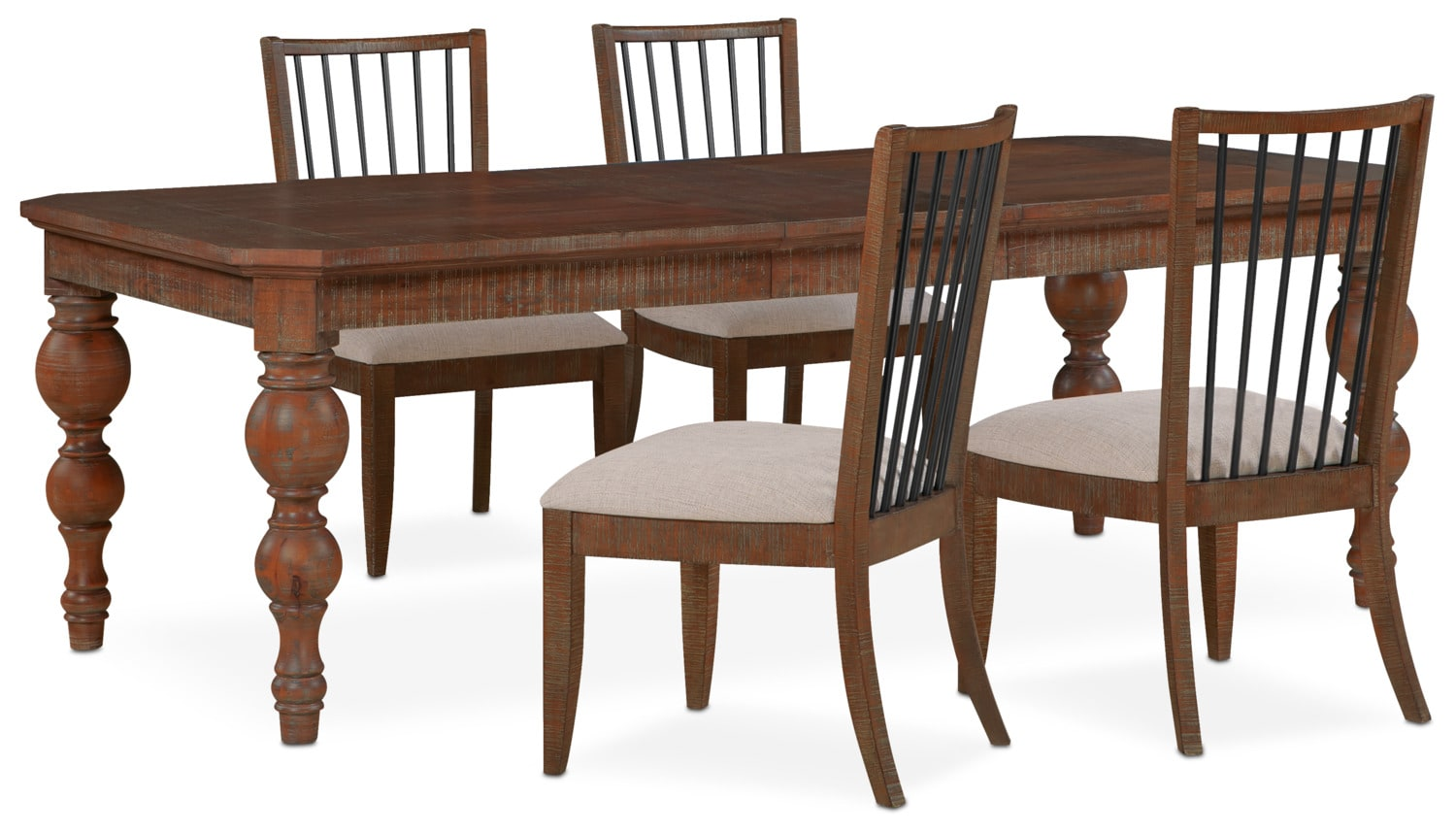 Dining Room Furniture - Gristmill Dining Table and 4 Side Chairs