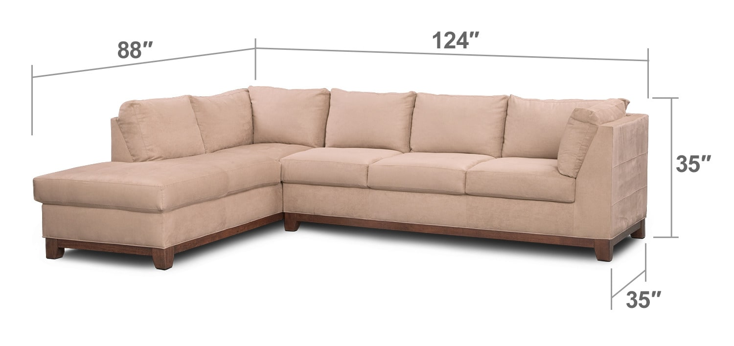Living Room Furniture   Soho 2 Piece Sectional With Chaise