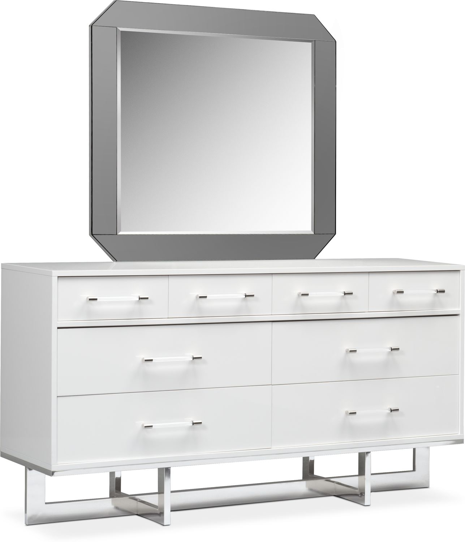 Bedroom Furniture - Concerto Dresser and Mirror