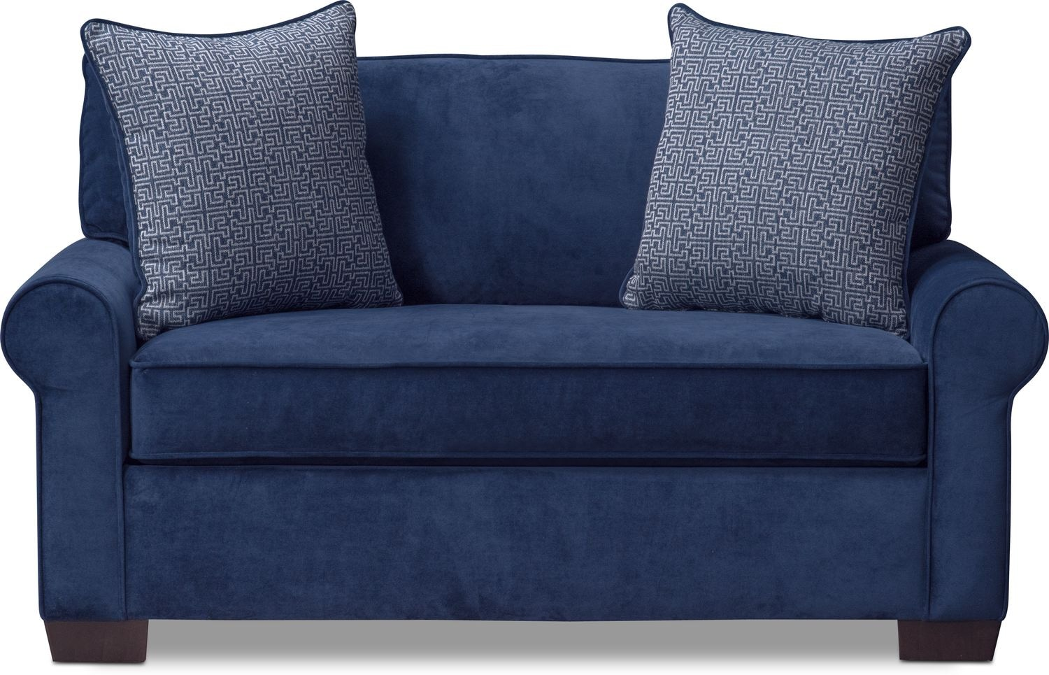 Blake Twin Memory Foam Sleeper Chair And A Half Indigo