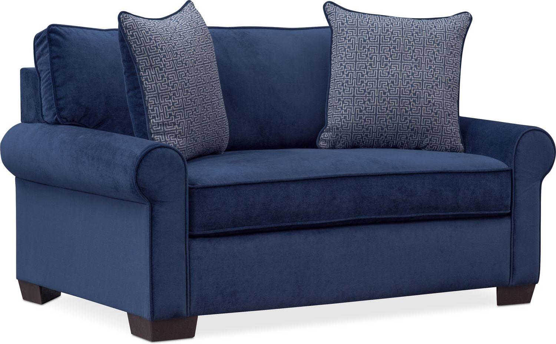 Living Room Furniture - Blake Twin Sleeper Chair and a Half