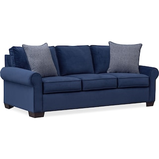 Blake Queen Innerspring Sleeper Sofa - Indigo