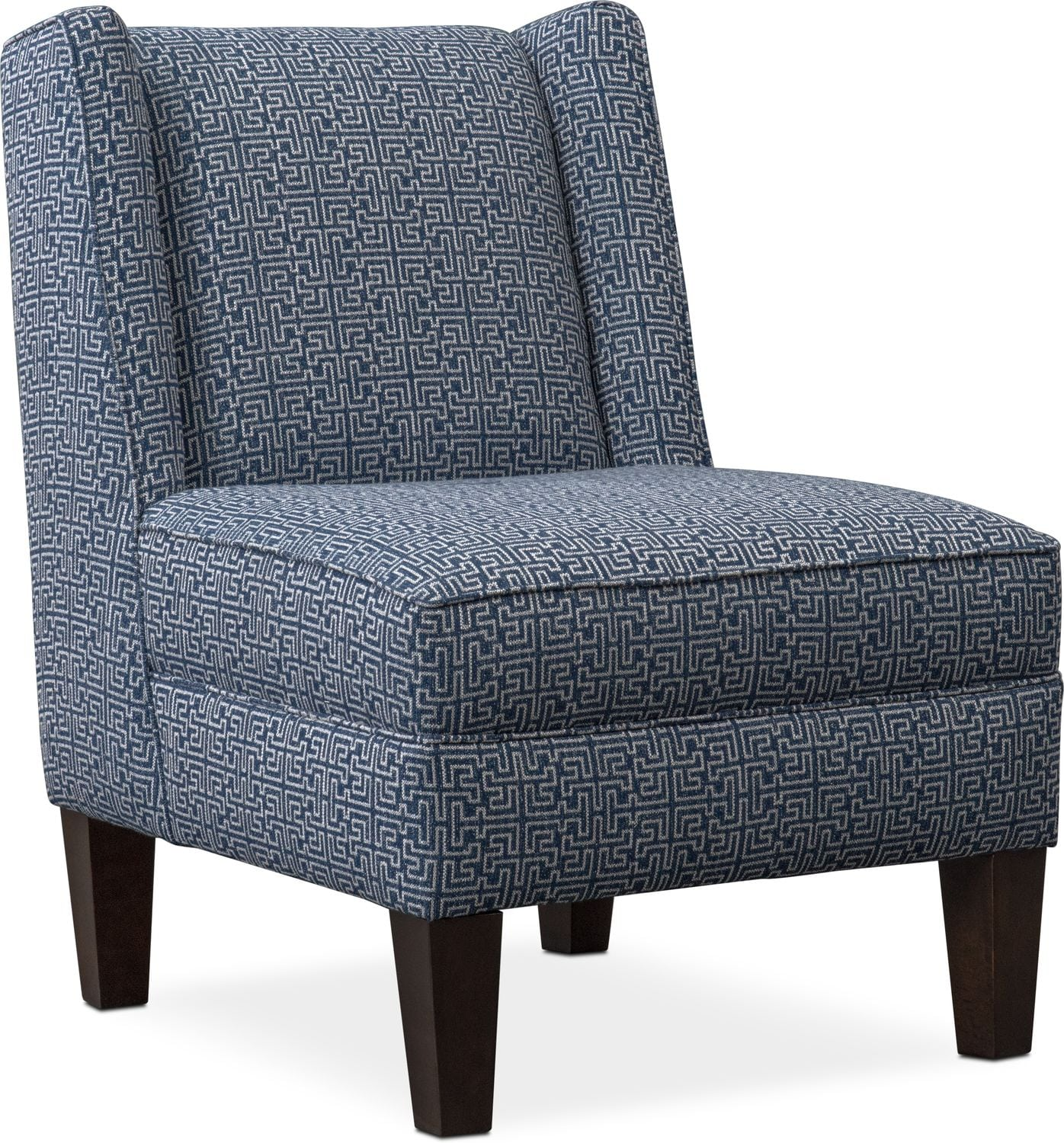 Blake Accent Chair Blue American Signature Furniture