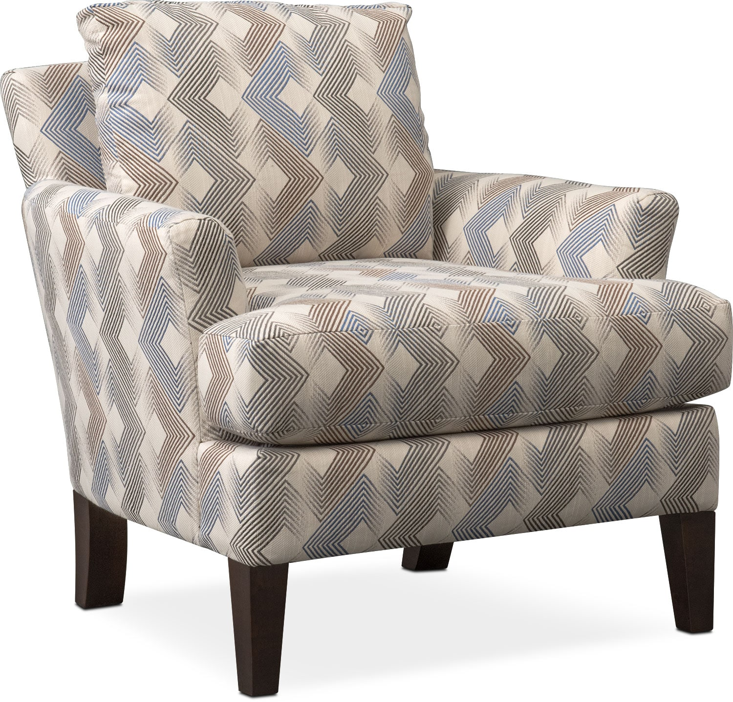 Living Room Furniture - Trevor Accent Chair - Twilight