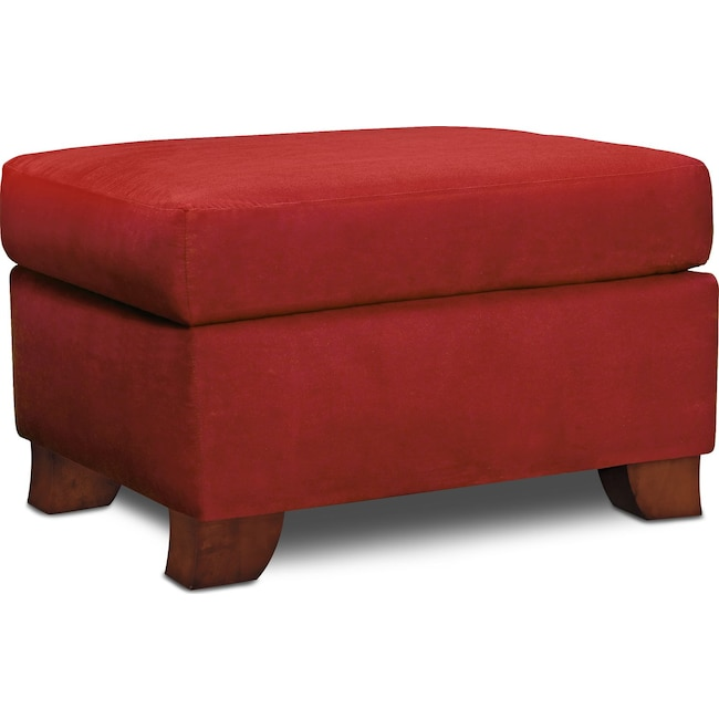Living Room Furniture - Adrian Ottoman - Red