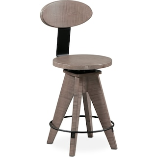 Tech Counter-Height Drafting Stool - Gray