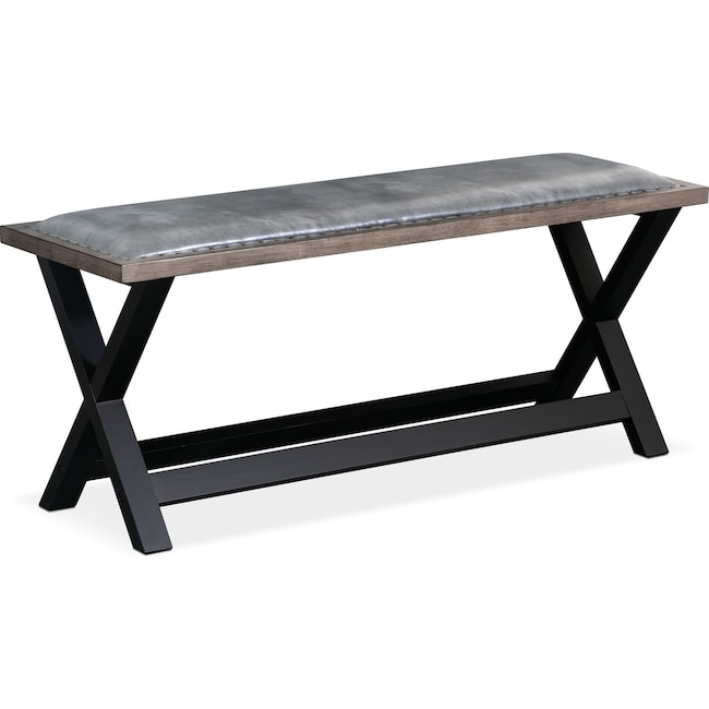 Accent and Occasional Furniture - Tech Counter-Height Bench - Gray