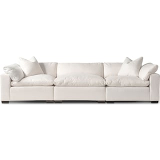 Plush 3-Piece Sofa- Ivory