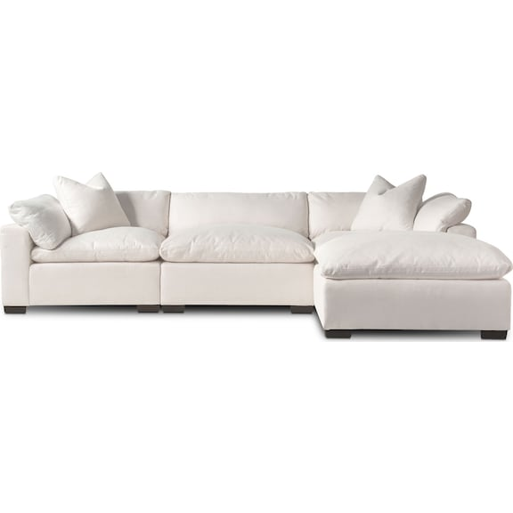 The Plush Sectional Collection - Anders Ivory | American Signature ...