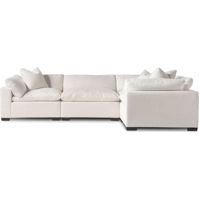 Living Room Furniture - Plush 4-Piece Sectional - Anders Ivory