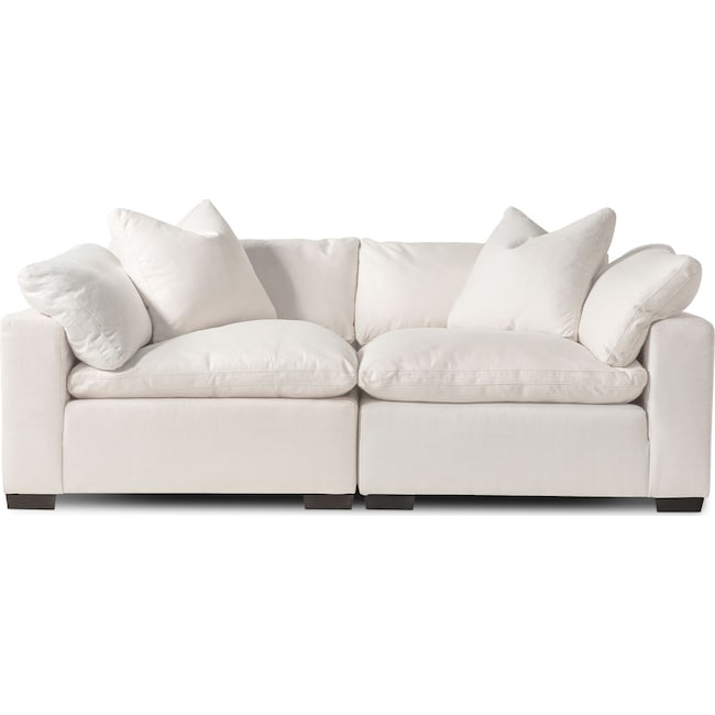 Living Room Furniture - Plush 2-Piece Sectional - Anders Ivory