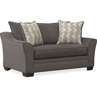 Trevor Twin Memory Foam Sleeper Chair and a Half - Gray