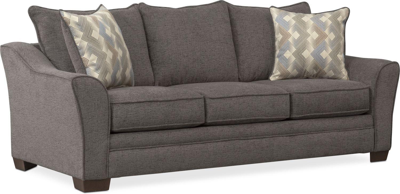 Trevor Queen Memory Foam Sleeper Sofa - Gray