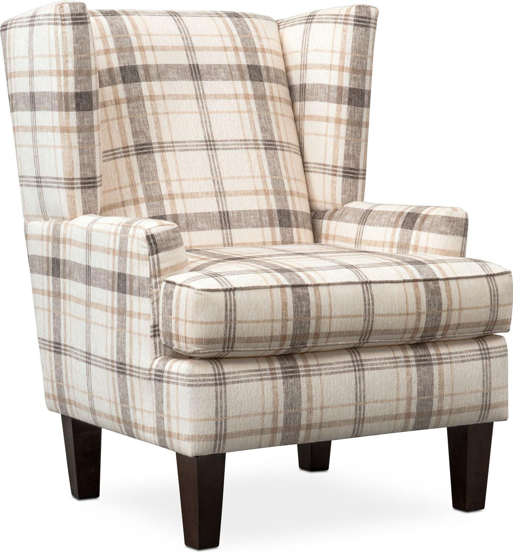 Living Room Furniture - Rowan Accent Chair - Plaid