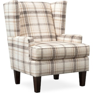 Rowan Accent Chair - Plaid
