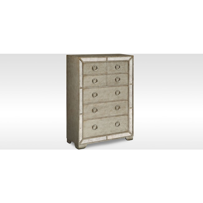 Bedroom Furniture - Angelina Chest - Metallic
