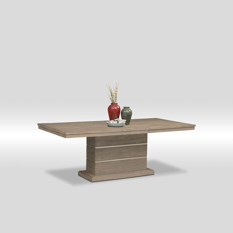 Gavin Pedestal Table   Graystone
