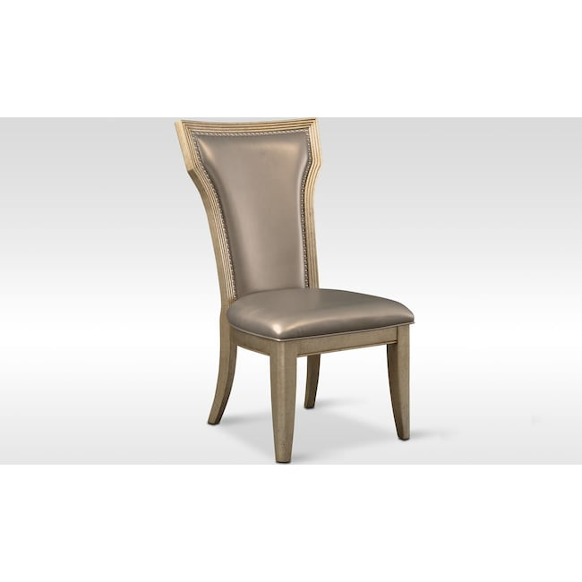 Dining Room Furniture - Angelina Side Chair - Metallic
