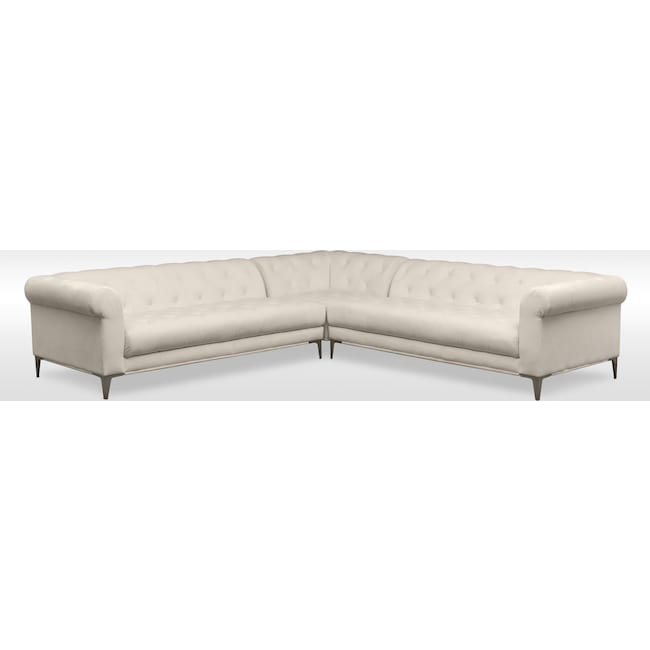 Living Room Furniture - David 3-Piece Sectional - Ivory
