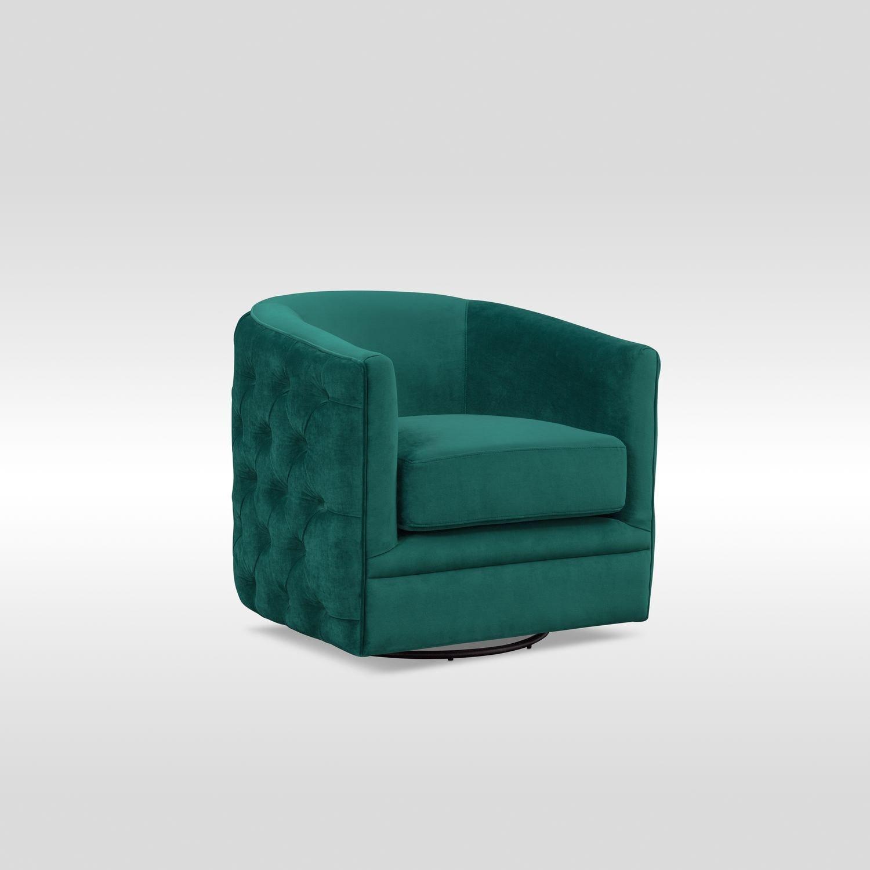 Chloe Swivel Chair   Emerald