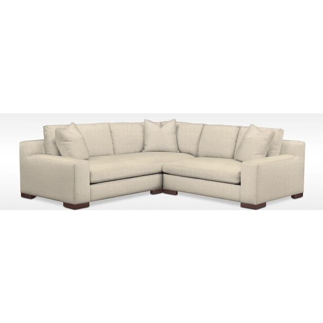 Living Room Furniture - Ethan Comfort 2-Piece Sectional with Right-Facing Loveseat - Anders Cloud