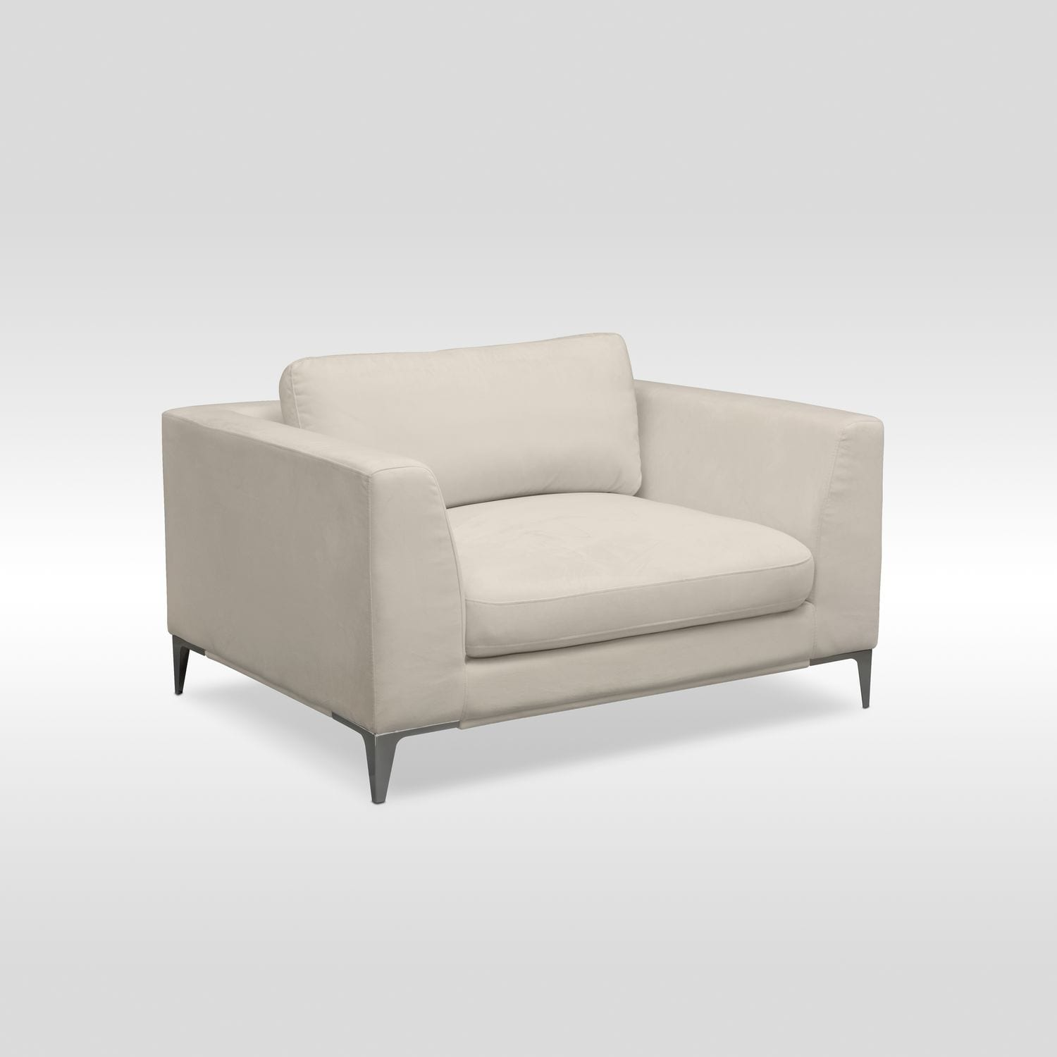 Living Room Furniture   Aaron Cuddler Chair   Ivory