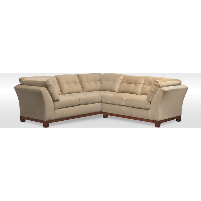 Living Room Furniture - Sebring 2-Piece Sectional with Right-Facing Loveseat - Cocoa
