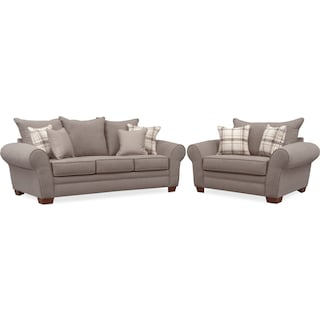 Rowan Sofa and Chair and a Half Set - Gray