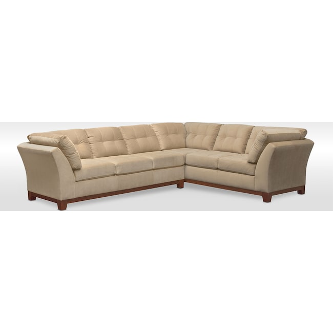 Living Room Furniture - Sebring 2-Piece Sectional with Left-Facing Sofa - Cocoa