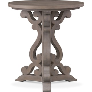 Charthouse Chairside Table - Gray