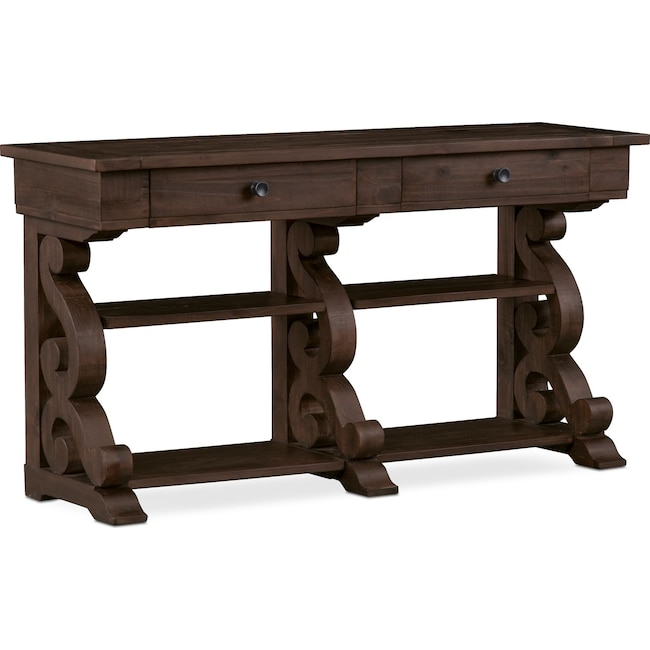 Accent and Occasional Furniture - Charthouse Sofa Table - Charcoal