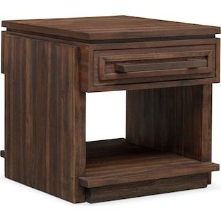 Pueblo End Table - Pecan