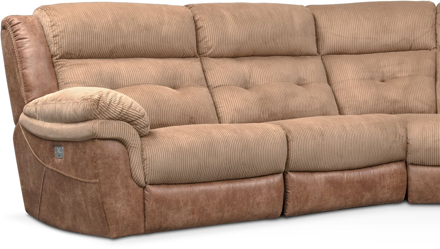 Rockridge 5 Piece Dual Power Reclining Sectional With 2