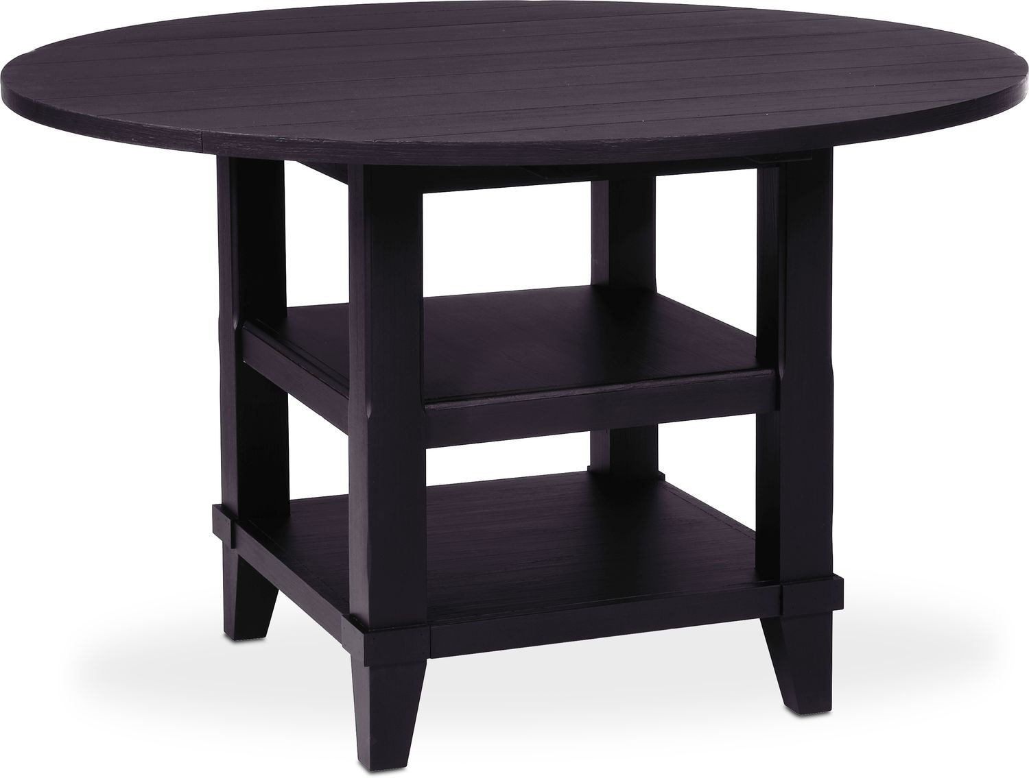 No ReviewsWrite the First Review · Dining Room Furniture - New Haven Round Drop-Leaf Dining Table ...  sc 1 st  American Signature Furniture & New Haven Round Drop-Leaf Dining Table - Black | American Signature ...