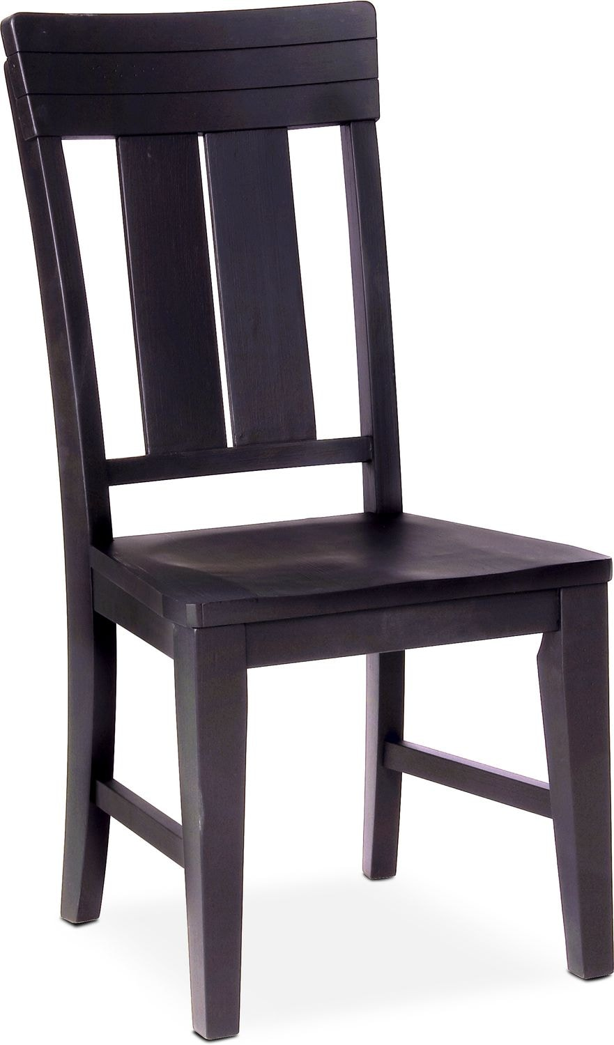 Dining Room Furniture - New Haven Slat-Back Side Chair - Black