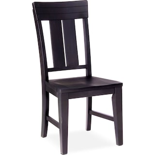 New Haven Slat-Back Side Chair - Black
