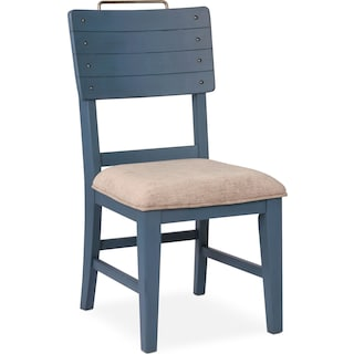 New Haven Shiplap Side Chair - Blue