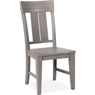 New Haven Slat-Back Side Chair - Gray