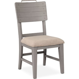 New Haven Shiplap Dining Chair - Gray