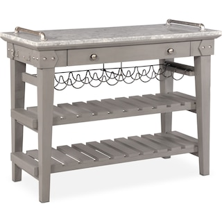 New Haven Serving Cart - Gray