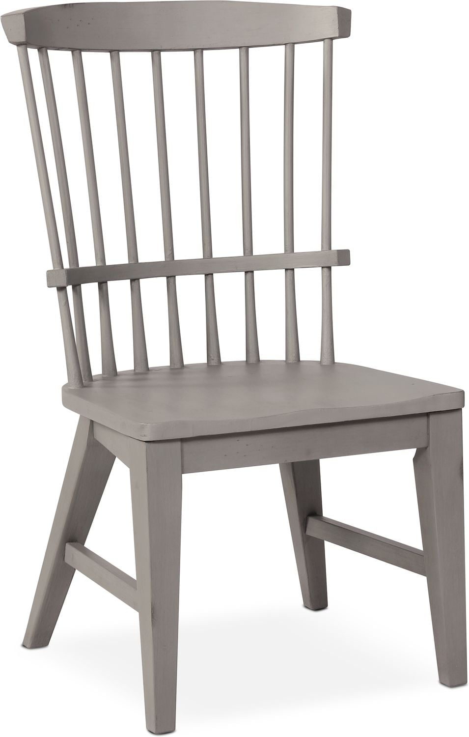 Dining Room Furniture   New Haven Windsor Side Chair   Gray