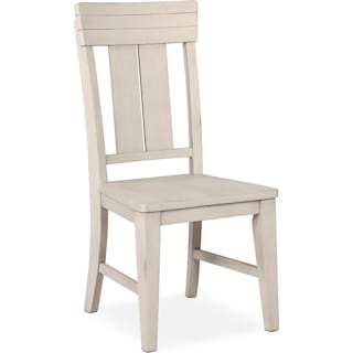 New Haven Slat-Back Side Chair - White