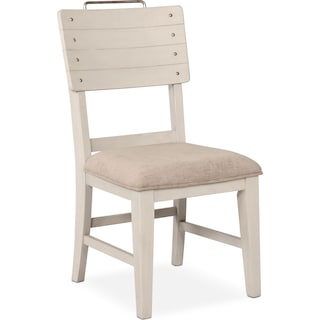 New Haven Shiplap Dining Chair - White
