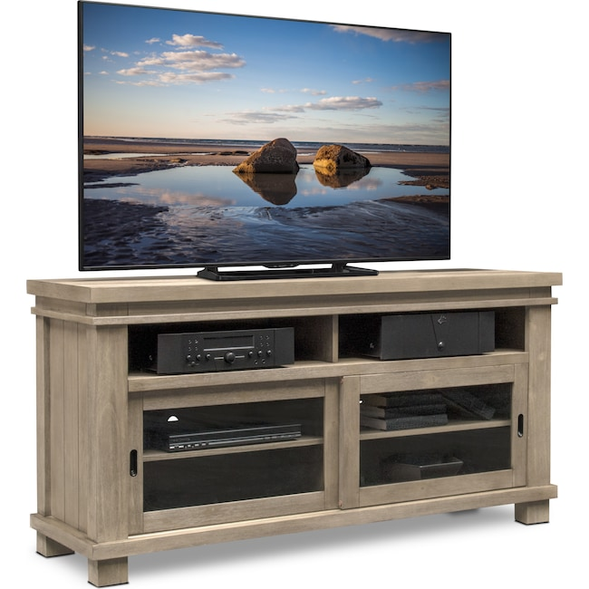 """Entertainment Furniture - Tribeca 64"""" TV Stand - Gray"""