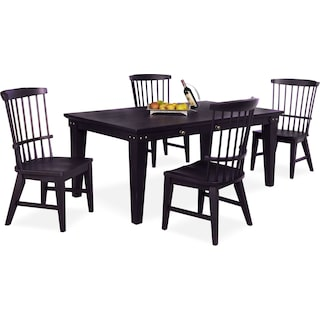 New Haven Dining Table and 4 Windsor Side Chairs