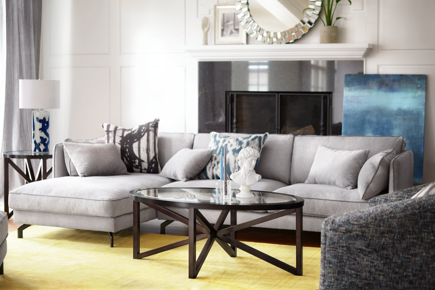 Accent and Occasional Furniture - Starburst Coffee Table and 2 End Tables - Merlot