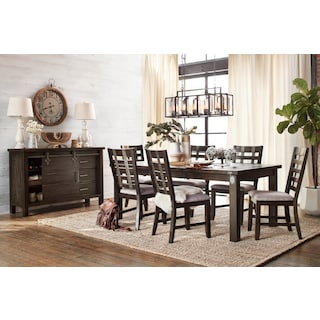 Hampton Dining Table and 6 Side Chairs