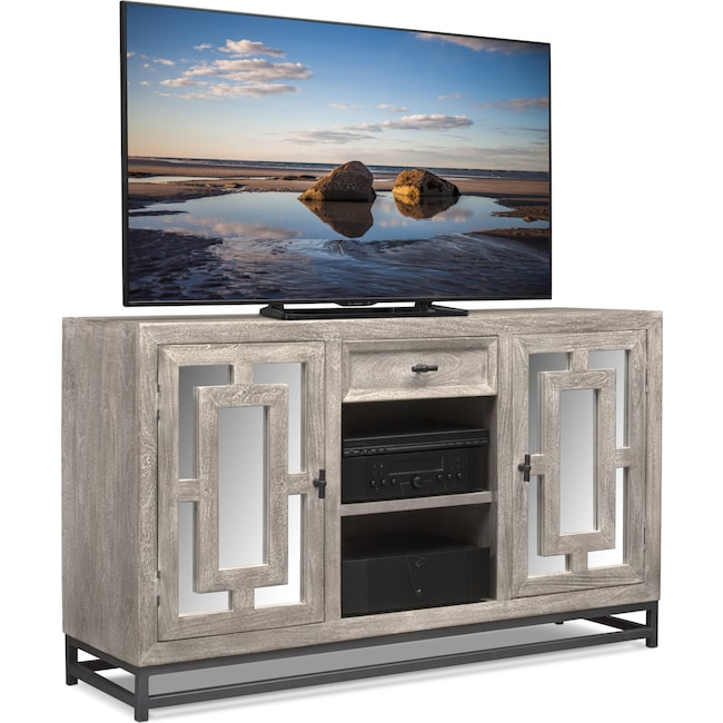 """Accent and Occasional Furniture - Parlor 60"""" TV Stand - Gray"""