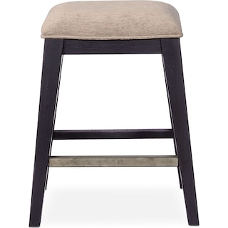 New Haven Counter-Height Backless Stool - Black